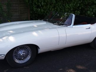 Jaguar E-Type White at Barons' Auction