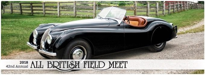 2018 Portland All British Field Meet Celebrating 42 Years Saluting Jaguar XK 120 - September 7th - 9th 2018