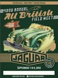 2018 Portland All British Field Meet Celebrating 42 Years Saluting Jaguar XK 120 - September 7th - 9th 2018 Poster