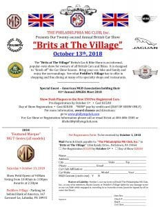 Brits at The Village 2018 Registration Form