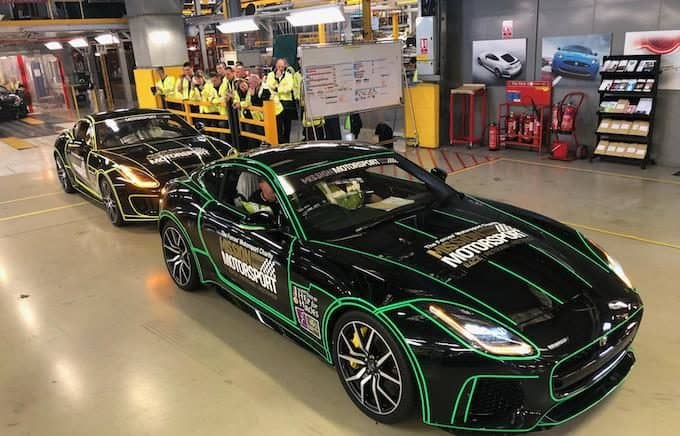 Mission Motorsport Receives Donation of Two Jaguar F-TYPEs