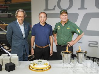 His Grace Duke of Richmond and Gordon, Lotus CEO Feng Qingfeng, Director of Classic Team Lotus Clive Chapman