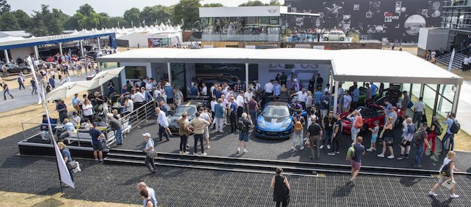 Lotus stand at Goodwood Festival of Speed 2018