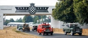 and Rover celebrates 70 years with the largest ever parade of vehicles on Goodwood Hill 3