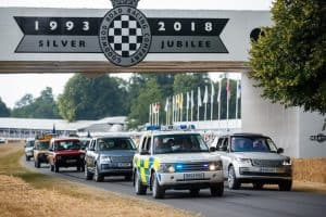and Rover celebrates 70 years with the largest ever parade of vehicles on Goodwood Hill 4