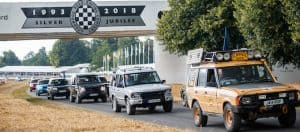 and Rover celebrates 70 years with the largest ever parade of vehicles on Goodwood Hill 5