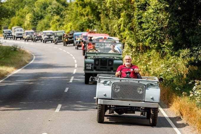 and Rover celebrates 70 years with the largest ever parade of vehicles on Goodwood Hill 9