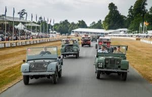 and Rover celebrates 70 years with the largest ever parade of vehicles on Goodwood Hill 8