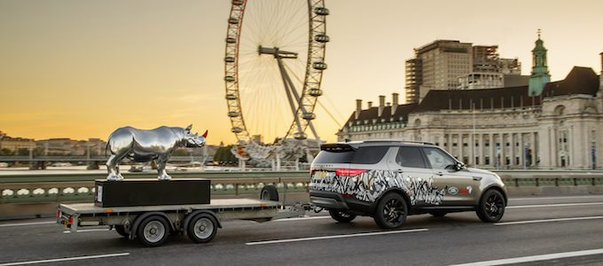 Land Rover design supports Tusk Rhino Trail initiative
