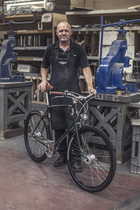 Pashley worker with bike