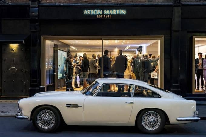 Aston Martin Works Heritage showroom opens in Mayfair
