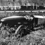 Chitty Bang Bang I after crash at Brooklands 1922