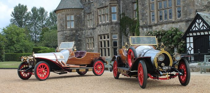 Film and reconstruction Chitty Chitty Bang Bang outside Palace House