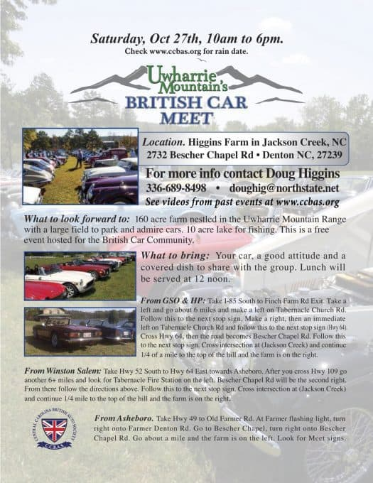 uwharrie fall meet flyer