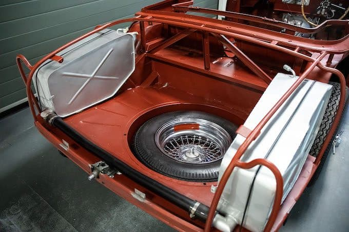Aston Martin DB4 Convertible, chassis no. 1173 - mid restoration at Aston Martin Works