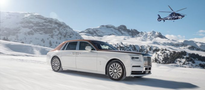 ROLLS-ROYCE PHANTOM GRACES THE SLOPES OF CORCHEVEL AND ST. MORITZ
