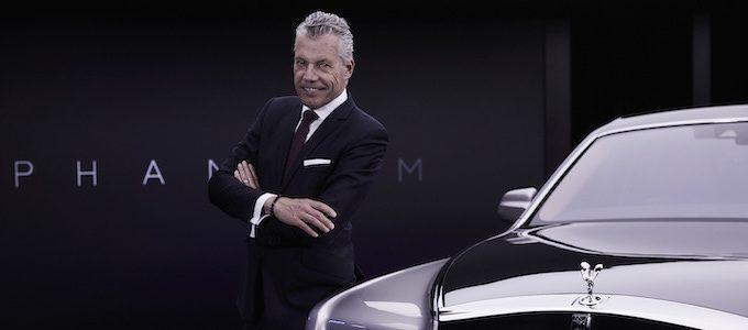 TORSTEN MÜLLER-ÖTVÖS, CEO, ROLLS-ROYCE MOTOR CARS NEXT TO NEW PHANTOM