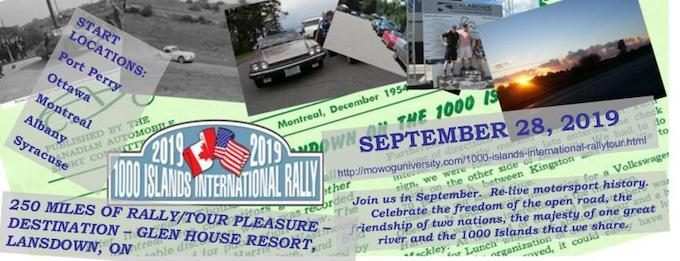 1000 Islands International Rally-Tour - Header