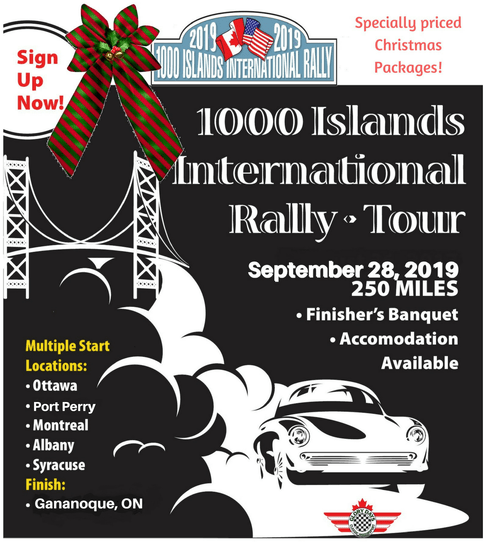 1000 Islands International Rally-Tour - Poster