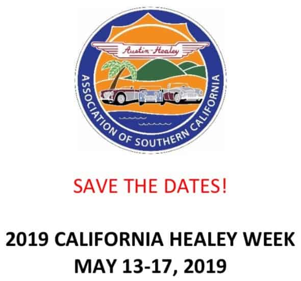 2019 CALIFORNIA HEALEY WEEK - Header