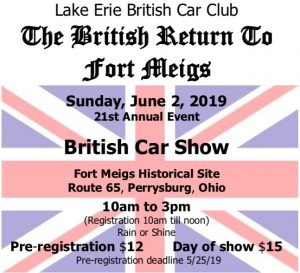 21st Annual British Return to Fort Meigs Car Show