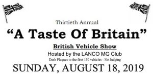 30th Taste of Britain Car Show