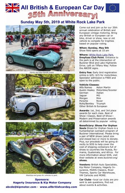 All British & European Car Day - Flyer
