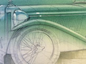 Adam Gompertz REVS sketch of the MG TC