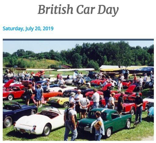 British Car Day at Old Rhinebeck Aerodrome