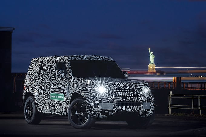 Land Rover Defender to be Unveiled in 2019 and Available in US and Canada - Statue of Liberty