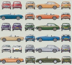 MGB - The Illustrated History, 4th Edition - Poster