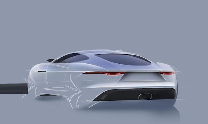 New Jaguar F-TYPE - Design Drawing Rear