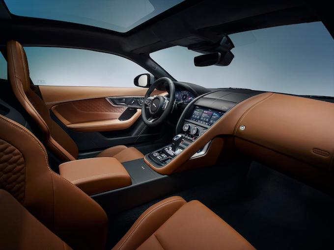 New Jaguar F-TYPE Interior and Gear Shift