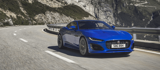 Jaguar F-Type - Velocity Blue, Revealed in Switzerland 02-12-2019