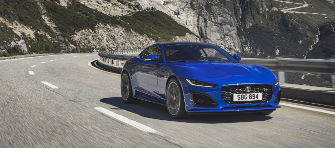 Jaguar F-Type - Velocity Blue, Revealed in Switzerland 02-12-2019