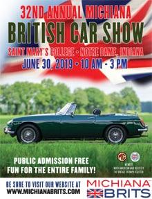 Michiana Brits 33rd Annual British Car Show