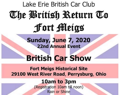 22nd Annual British Return to Fort Meigs Car and Bike Show