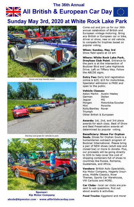 All British and European Car Show - Flyer 2020