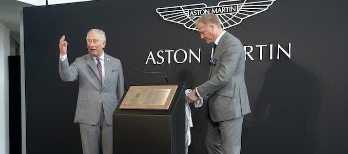 Aston Martin St Athan HRH visit (2)