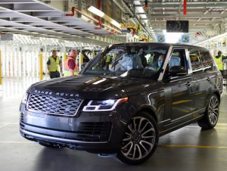 First Socially Distanced Made Range Rover Roll Off The Line 1