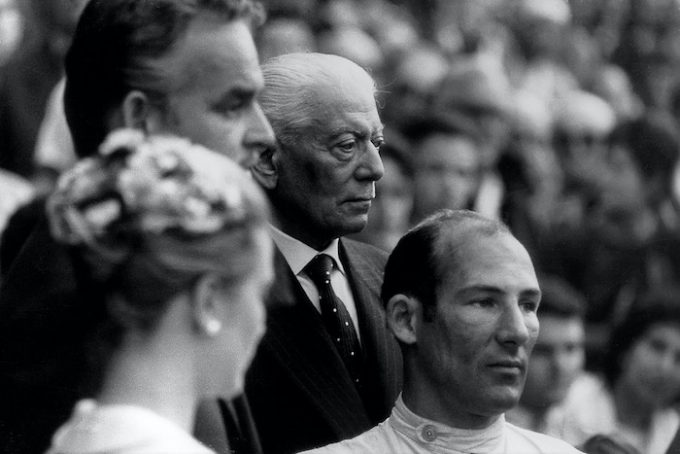 Stirling Moss on the stand