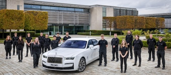 ROLLS-ROYCE WELCOMES NEW CLASS OF 2020 APPRENTICES TO GOODWOOD
