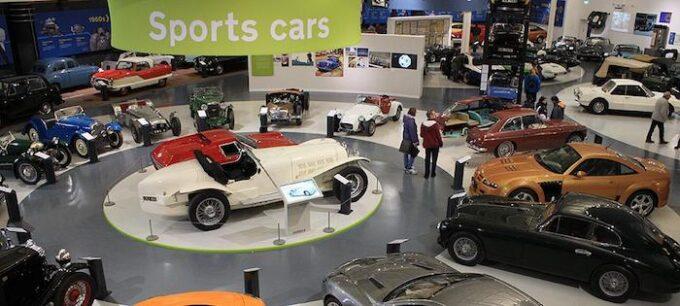 British Motor Museum sports cars zone