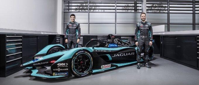 Jaguar Racing unveil Jaguar I-TYPE 5 race car ahead of new Formula E Campaign - Mitch Evans & Sam Bird - Head