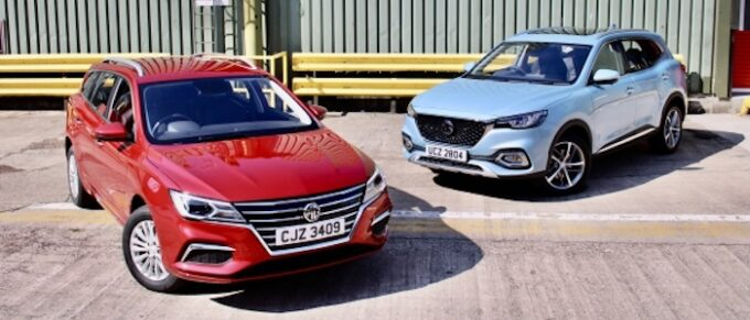 MG Returns to Irish market with plug-in only model range - Models shown are MG ZS EV