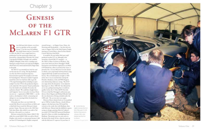 The definitive history of the fabulously successful McLaren F1 GTR - Inside Spread