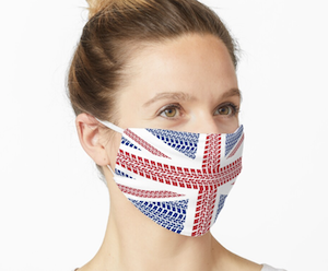 Tire track Union Jack British Flag Mask