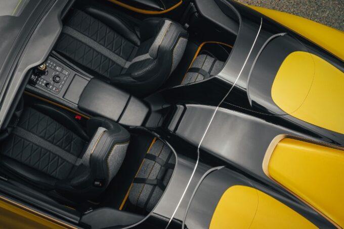 Tweed Interior Option for Bentley - overhead view
