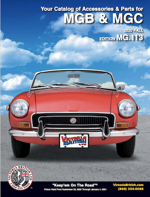 VIctoria British MGB Catalog Front Cover with link to Victoria British website