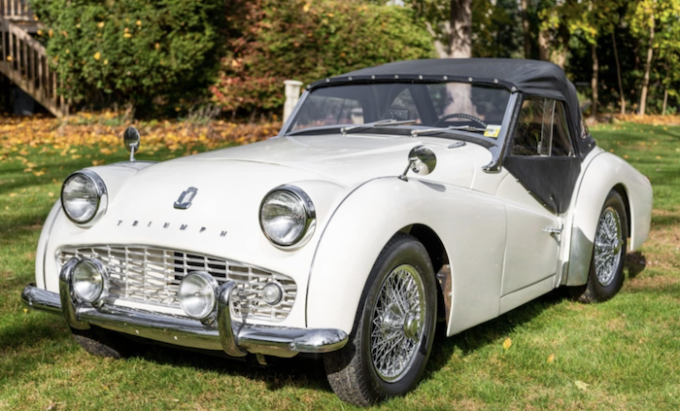 1963 Triump TR3 on BaT - Bring a Trailer